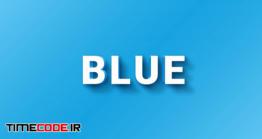 دانلود استایل متن مخصوص فتوشاپ Blue And Orange 3d Text Style Effect