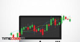 دانلود وکتور نمودار رشد بورس  Business Candle Stick Graph Chart Of Stock Market Investment