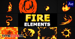 دانلود پروژه آماده افتر افکت : المان کارتونی آتش Cartoon Fire Pack