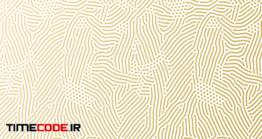 دانلود پترن اثر انگشت Golden Pattern Background