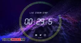 دانلود پروژه آماده افتر افکت : شمارش معکوس Counter Timers For Live Streaming