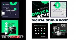 دانلود پروژه آماده افتر افکت : اینستاگرام Digital Studio Post Instagram