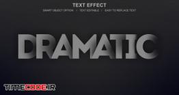 دانلود استایل آماده متن مخصوص فتوشاپ Dramatic Layer Effect