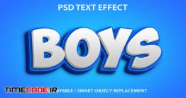 دانلود استایل آماده متن فتوشاپ Editable Text Effect Boys