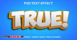 دانلود استایل آماده متن فتوشاپ Editable Text Effect True Premium