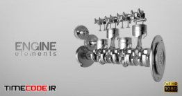 دانلود فوتیج آلفا سیلندر ماشین Engine Elements