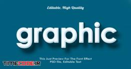 دانلود استال آماده فتوشاپ Graphic, Modern Styled 3d Trendy Font Effect