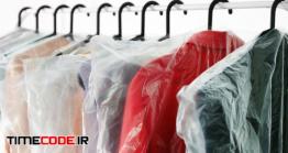 دانلود عکس هنگر لباس Hangers With Clean Clothes In Laundry