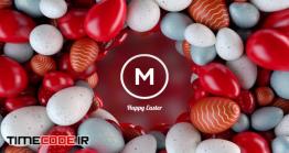 دانلود پروژه آماده پریمیر : لوگو موشن تخم مرغ رنگی Happy Easter Eggs & Spring