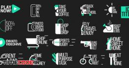 دانلود پروژه آماده افتر افکت : مجموعه آیکون انیمیشن + تایتل Icon Titles