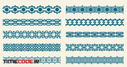دانلود وکتور حاشیه با طرح اسلامی Islamic Ornaments Link Decorative Borders