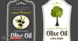 دانلود طرح لایه باز برچسب روغن زیتون Label Elements For Olive Oil
