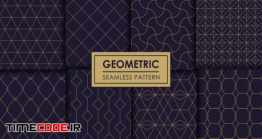 دانلود پترن هندسی Geometric Seamless Pattern Set