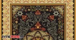 دانلود وکتور فرش ایرانی Oriental Persian Turkish Carpet Ready For Production