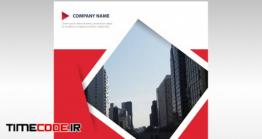 دانلود رایگان طرح لایه باز بروشور گزارش سالیانه Red Geometric Abstract Annual Report Template
