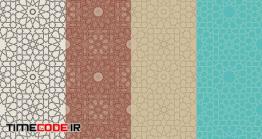 دانلود مجموعه پترن اسلامی Seamless Islamic Moroccan Patterns Set