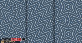 دانلود پترن Set Of Abstract Wave Line Seamless Pattern