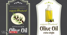 دانلود فایل لایه باز برچسب روغن زیتون Label Elements For Olive Oil