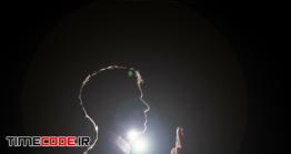 دانلود عکس ضد نور مرد در حال نیایش Silhouette Of Muslim Man Praying