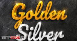 دانلود موکاپ متن سه بعدی 3d Mockup Gold And Silver Text Style