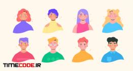 دانلود مجموعه 8 کاراکتر موشن گرافیک  Stylish Animated Characters