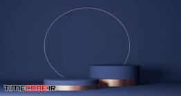 دانلود بک گراند برای نمایش محصولات آرایشی Abstract Minimal Scene With Geometric Forms