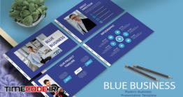 دانلود قالب پاورپوینت   BLUE BUSINESS – Powerpoint Template