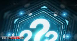 دانلود مرد در حال اشاره به علامت سوال Businesswoman Using Question Marks Digital Interface