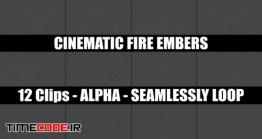دانلود فوتیج آلفا جرقه های آتش Cinematic Fire Embers