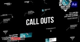 دانلود پروژه آماده افتر افکت : اینفوگرافی Corporate Call Outs