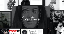 دانلود قالب پاورپوینت سیاه وسفید  Creature – Powerpoint