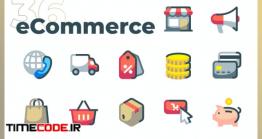 دانلود ست آیکون تجارت الکترونیک  ECommerce Icons