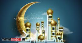 دانلود بنر عید فطر مبارک Eid Mubarak Greeting Concept