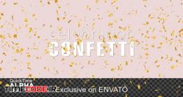 دانلود فوتیج آلفا انفجار کاغذ رنگی Explosion Gold Confetti Pack