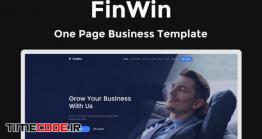 دانلود قالب HTML تک صفحه FinWin – One Page Business Finance Template