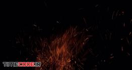 دانلود فوتیج آلفا شعله آتش Fire Sparks On Alpha
