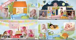 دانلود پروژه آماده افتر افکت : آلبوم عکس کودک Hey, I'm Turning One! – Baby Birthday Album