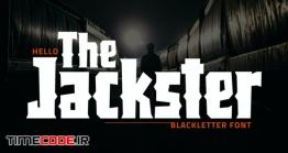 دانلود فونت انگلیسی ترسناک  Jackster – Blackletter Font