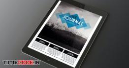 دانلود فایل لایه باز ایندیزاین : مجله دیجیتال Le Journal Tablet Magazine Indesign Template