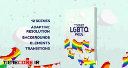 دانلود پروژه آماده افتر افکت : ترنزیشن کارتونی LGBTQ Pride Toolkit