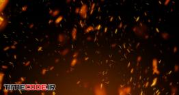 دانلود فوتیج جرقه آتش Looping Embers
