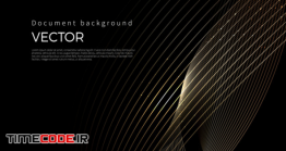 دانلود بک گراند انتزاعی با خطوط طلایی Luxury Golden Lines, Abstract Line Background