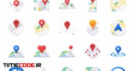دانلود مجموعه آیکون نقشه Map Icon Set