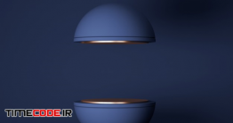 دانلود بک گراند شیک برای نمایش محصول Minimal Scene With Geometric Forms. Sphere Podium In Blue Background
