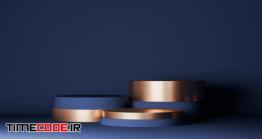 دانلود بک گراند شیک برای نمایش محصولات آرایشی Mock Up Geometric Shape Podium For Product Design