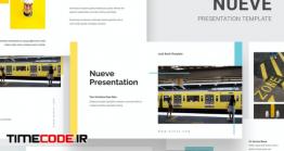 دانلود قالب پاورپوینت Nueve – Yellow Tone Business Powerpoint