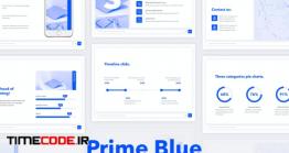 دانلود قالب پاورپوینت با تم آبی Prime Blue PowerPoint Template