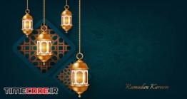 دانلود بک گراند رمضان و عید مبارک Ramadan Kareem And Happy Eid Mubarak Background