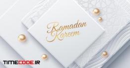 دانلود فایل لایه باز بنر ماه رمضان Ramadan Kareem Holiday Sign