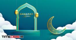 دانلود فایل لایه باز بنر ماه رمضان Realistic Ramadan Kareem Banner